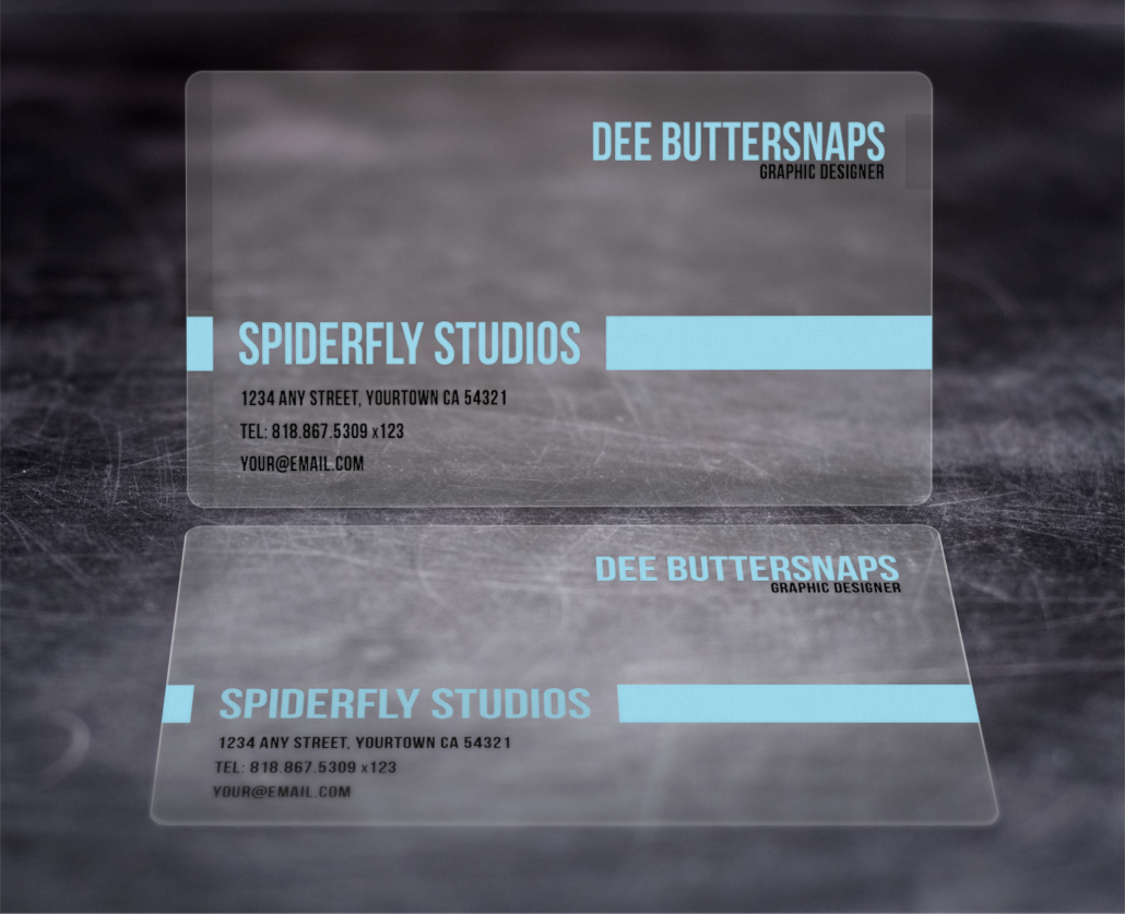 Plastic Business Cards – Spiderfly Studios