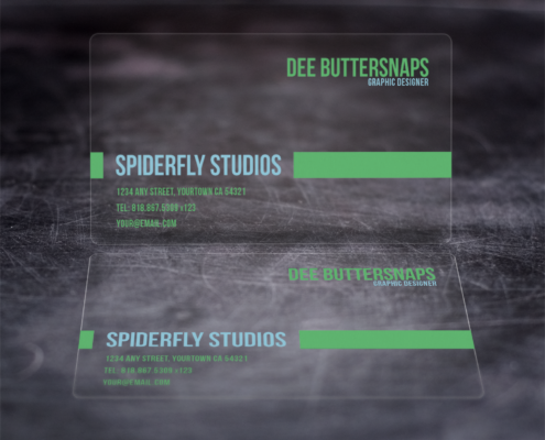 Plastic Business Cards - Clear