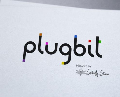 Plugbit Logo - Spiderfly Studios