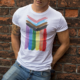 Watercolor Pride Flag T-Shirt - Spiderfly Studios