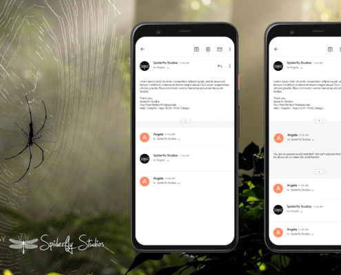 Gmail Quoted Email Concept - Spiderfly