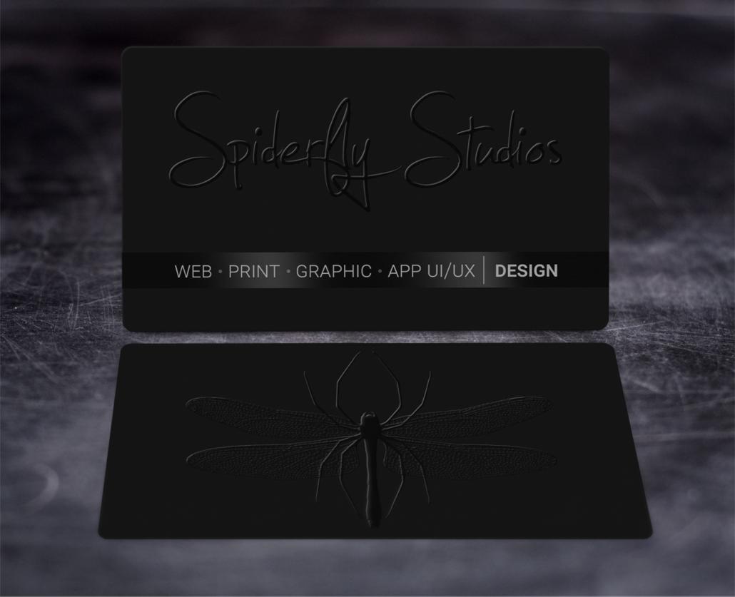 Raised Spot UV Business Cards – Spiderfly Studios