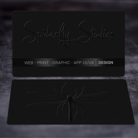 Raised Spot UV Business Cards - Spiderfly Studios
