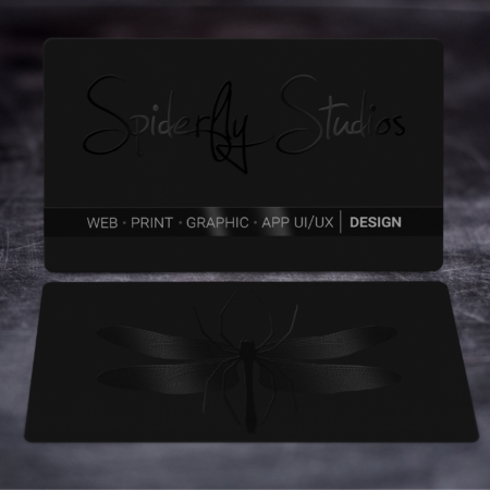 Suede Business Cards w/Raised Spot UV - Spiderfly Studios