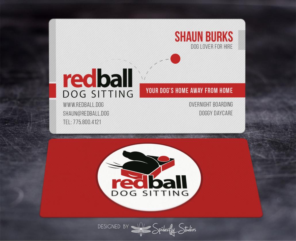 Red Ball Dog Sitting Business Cards – Spiderfly Studios