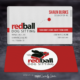 Red Ball Dog Sitting Business Cards - Spiderfly Studios