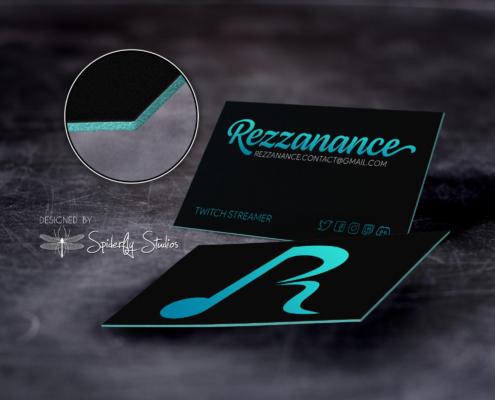 Rezzanance Business Cards v2 - Spiderfly Studios