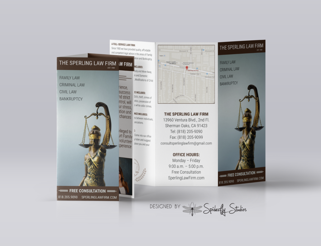 Sperling Law Brochure - Spiderfly Studios
