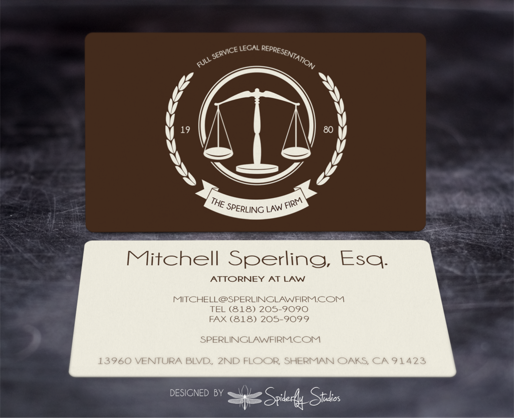 Sperling Law Business Cards – Spiderfly Studios