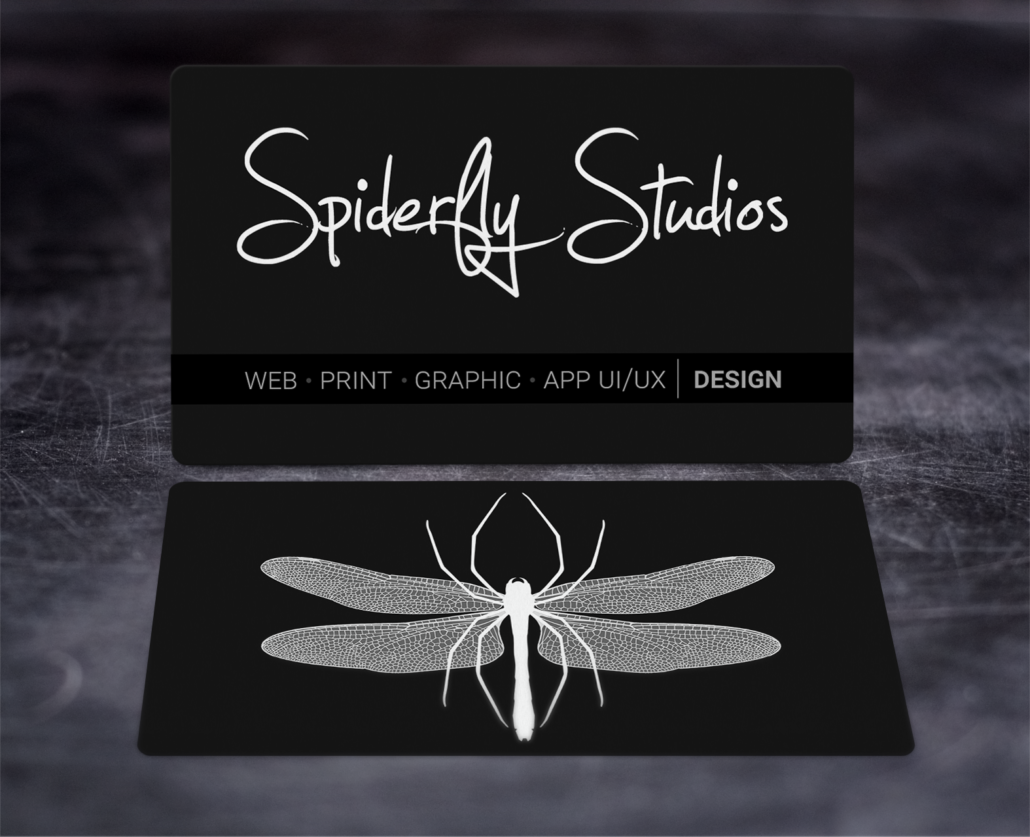 Suede Business Cards – Spiderfly Studios