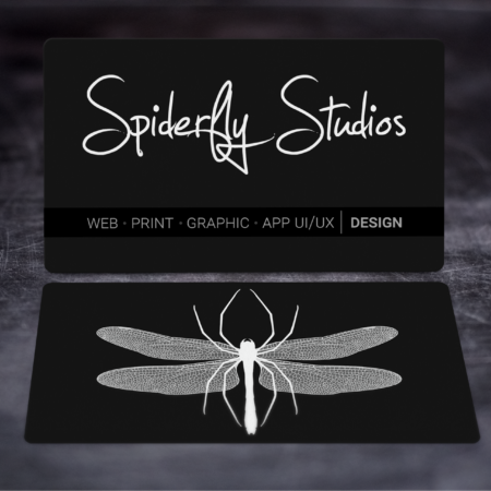 Suede Business Cards - Spiderfly Studios