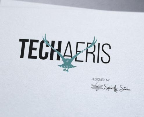 Techaeris Logo - Spiderfly Studios