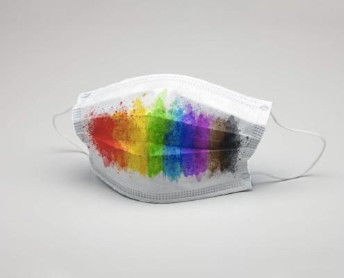 Watercolor Pride Face Mask - Spiderfly Studios
