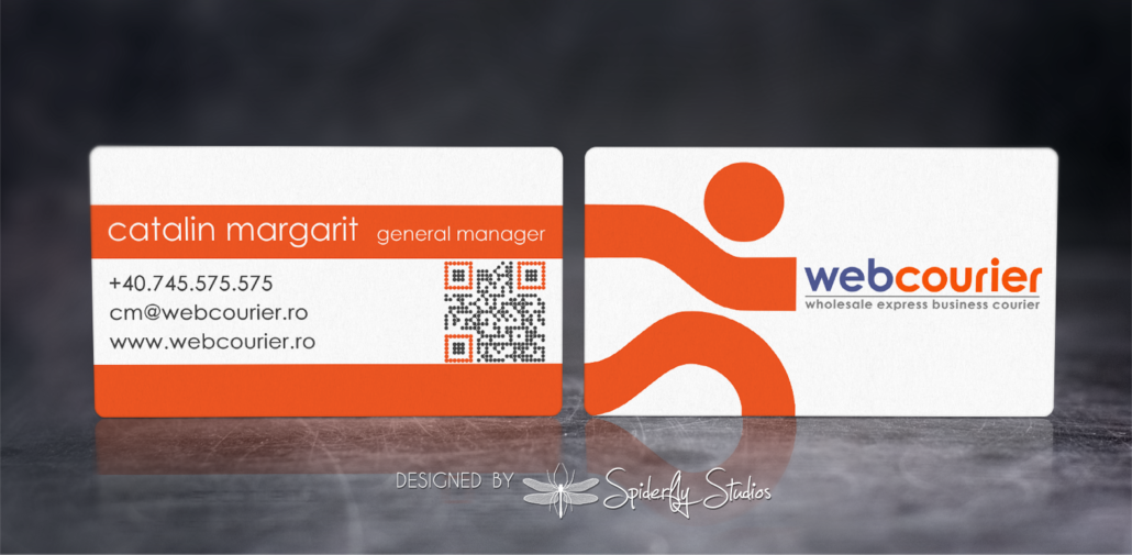 Web Courier Business Cards - Spiderfly Studios