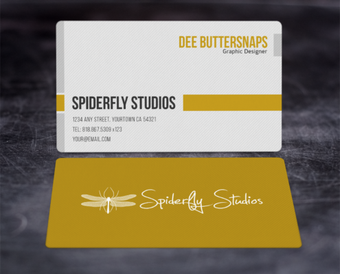 Clean Corporate Business Cards - Yellow